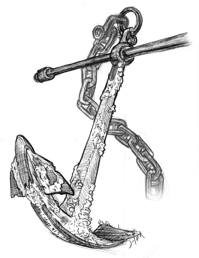 Line Drawing Anchor : Detailed anchor drawing pixshark images